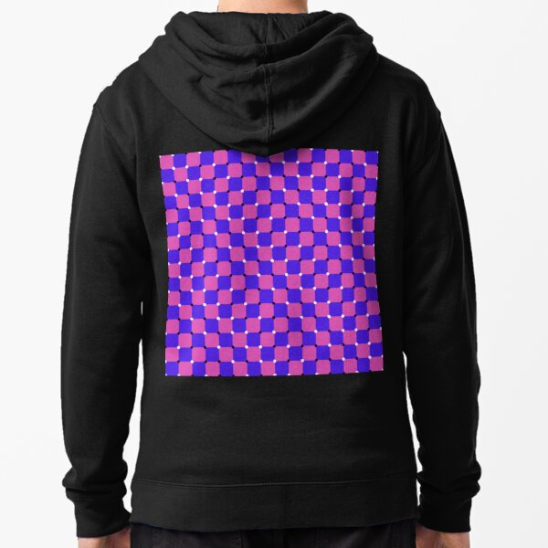 #MOVING #EYE #ILLUSION #Pattern, design, circular, abstract, illustration, art, grid, proportion, symmetrical Zipped Hoodie