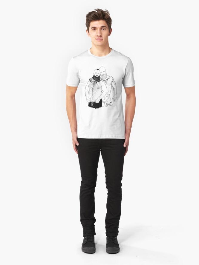 Alternate view of Andy & Roman - Black lines Slim Fit T-Shirt