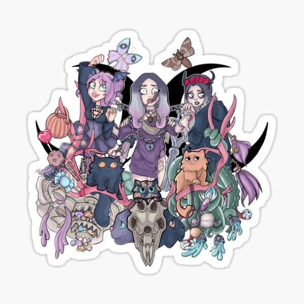 The morgue of Aracne Phobia Sticker