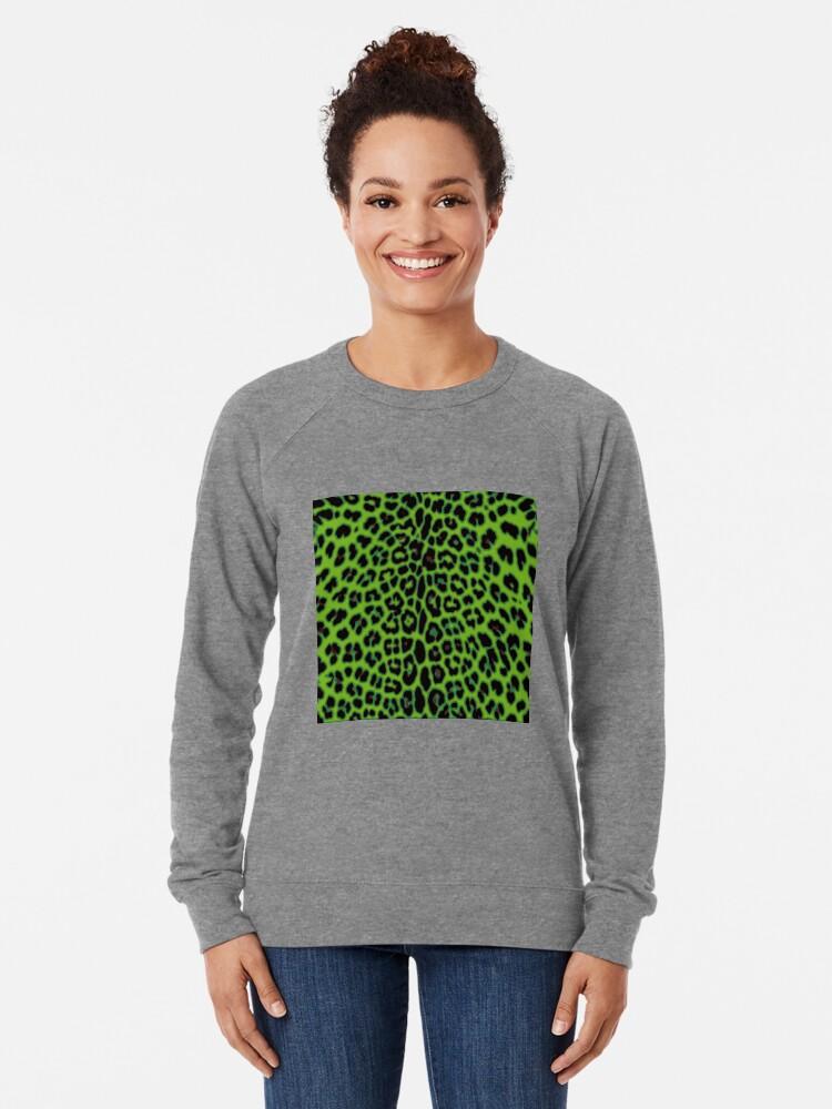 Alternate view of Green Leopard Lightweight Sweatshirt