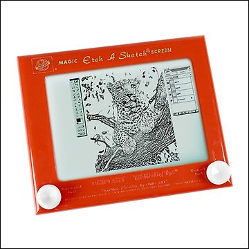 Etch-a-Sketch = Photo-Shop (in the good old days....) by MoGeoPhoto
