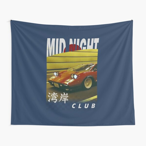 Mid Night Club Japan - Lamborghini Countach Tapestry