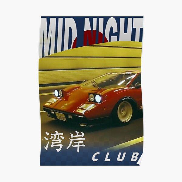 Mid Night Club Japan - Lamborghini Countach Poster