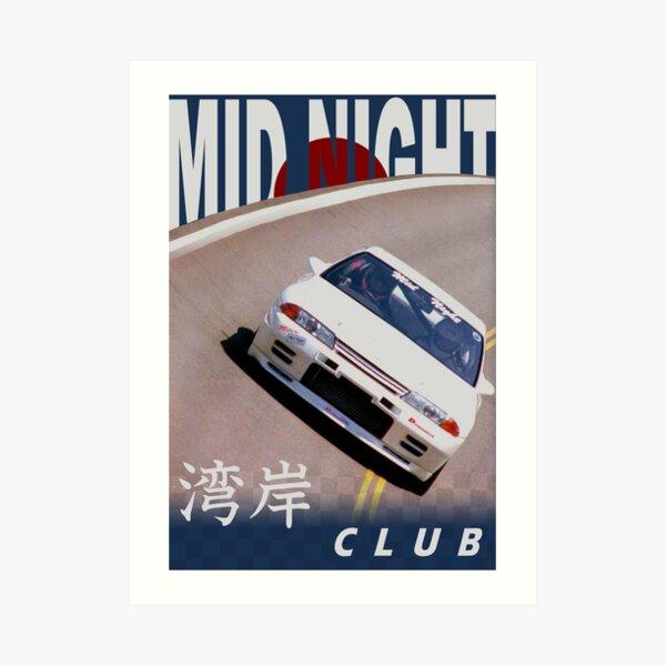 Mid Night Club Japan - Nissan R32 Art Print