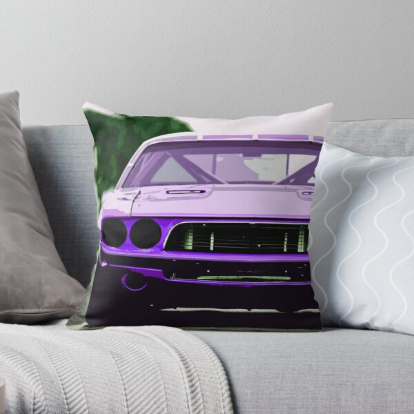 1973 Dodge Challenger Throw Pillow