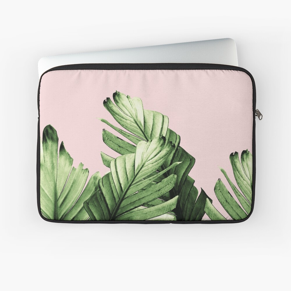 Blush Banana Leaves Dream #1 #tropical #decor #art Laptop Sleeve