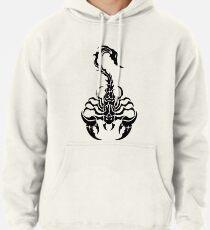 Sleek Tribal Scorpion Pullover Hoodie