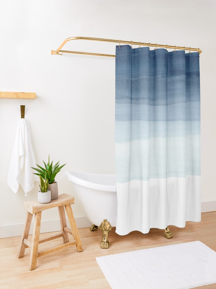 Alternate view of ocean Shower Curtain