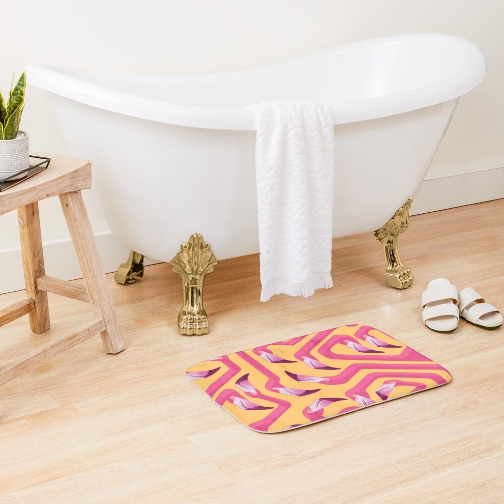 Flamingo Maze Bath Mat