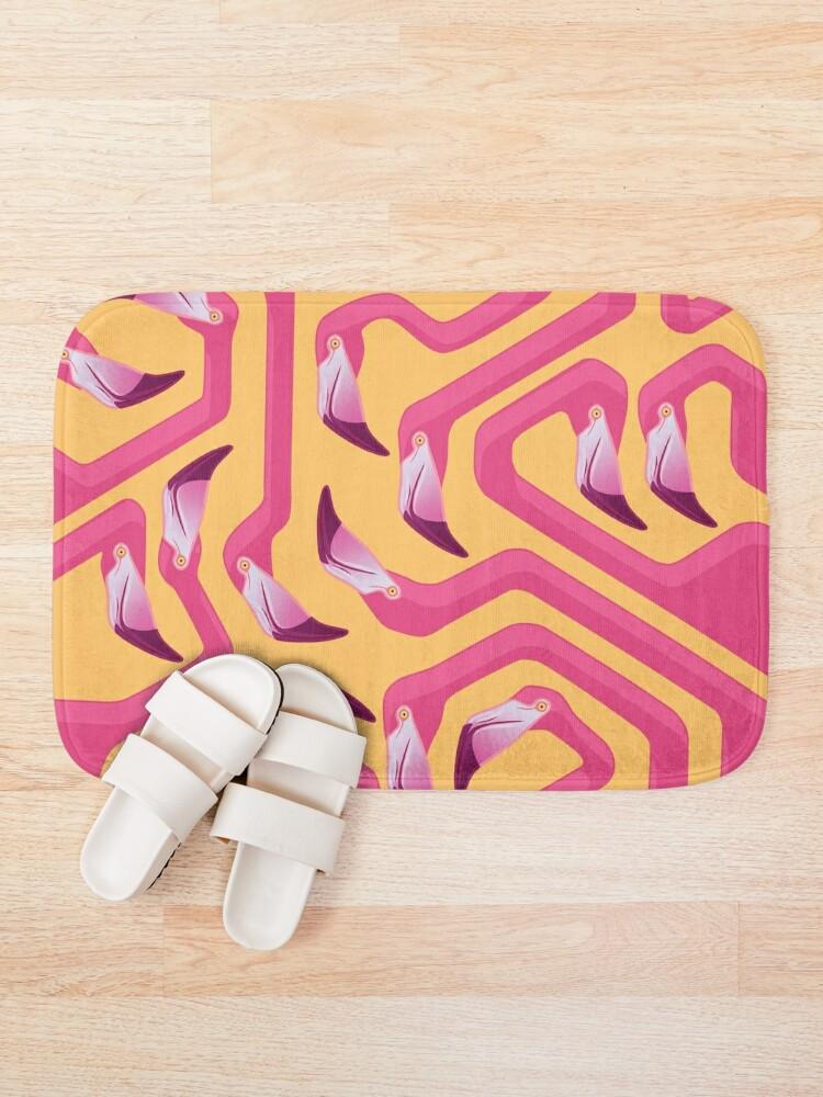 Alternate view of Flamingo Maze Bath Mat