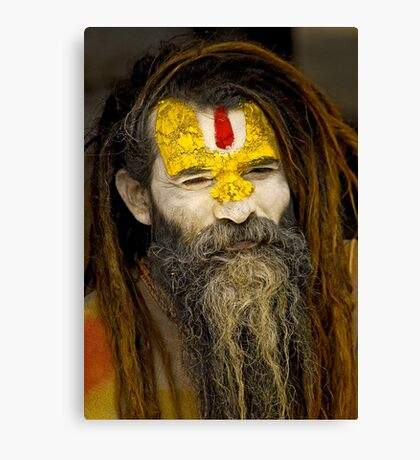 Sadhu (Holy man) III Canvas Print