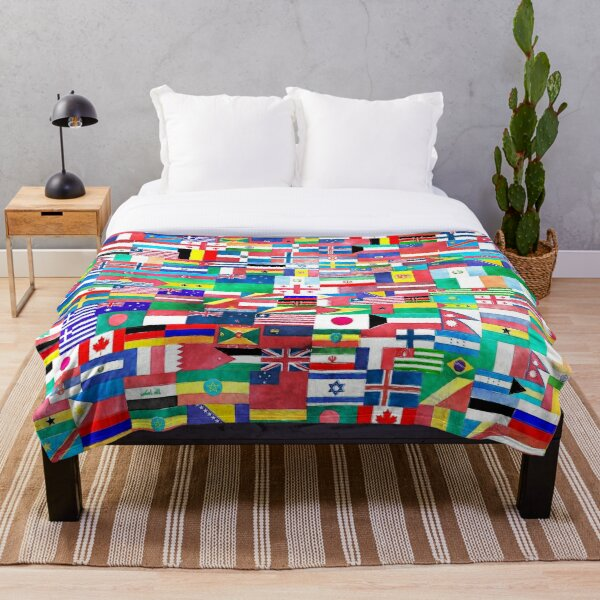 World of Flags Throw Blanket