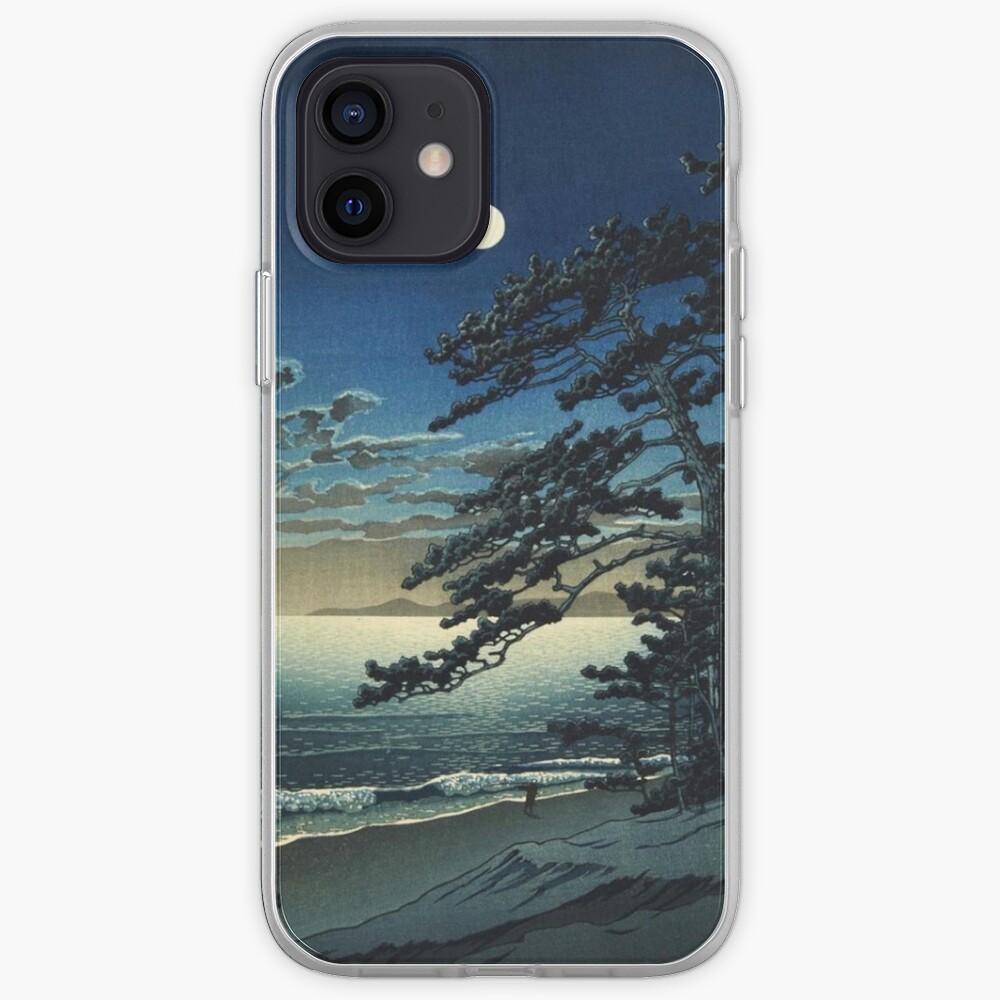 Moon over Ninomiya Beach by Kawase Hasui iPhone Case & Cover