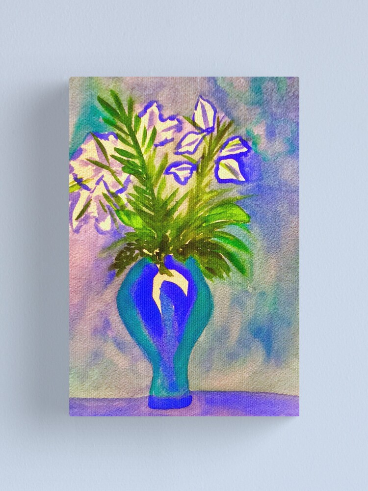 Alternate view of Blue Flowers Canvas Print