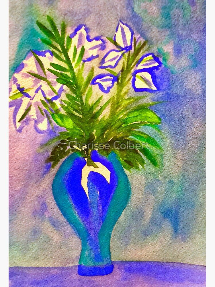 Blue Flowers by charissecolbert