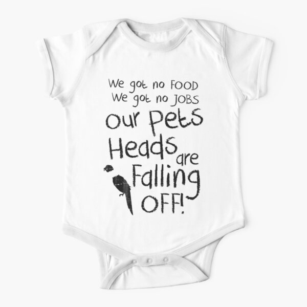 Pets Heads are Falling Off! Short Sleeve Baby One-Piece