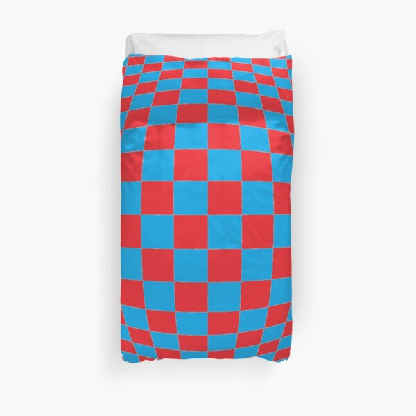 Chess, #Optical #Checker #Illusion #Pattern, design, chess, abstract, grid, square, checkerboard, illusion Duvet Cover
