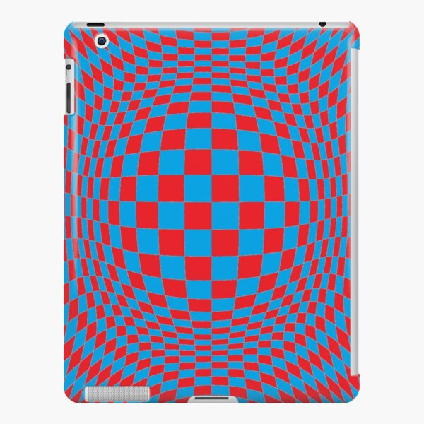 Chess, #Optical #Checker #Illusion #Pattern, design, chess, abstract, grid, square, checkerboard, illusion iPad Snap Case
