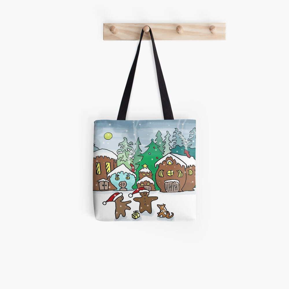 Gingerbread Village Christmas Tote Bag