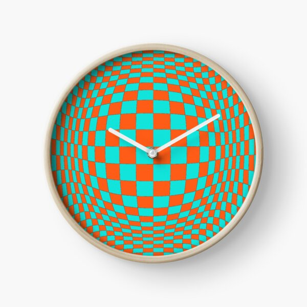 Chess, #Optical #Checker #Illusion #Pattern, design, chess, abstract, grid, square, checkerboard, illusion Clock