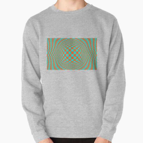 Chess, #Optical #Checker #Illusion #Pattern, design, chess, abstract, grid, square, checkerboard, illusion Pullover Sweatshirt
