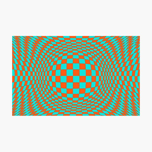 #Optical #Checker #Illusion #Pattern, design, chess, abstract, grid, square, checkerboard, illusion Photographic Print