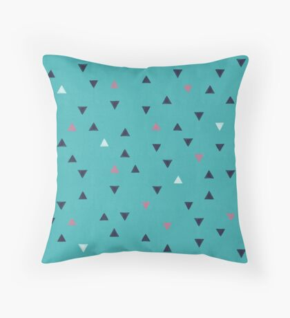 TRY ANGLES / swimming Throw Pillow