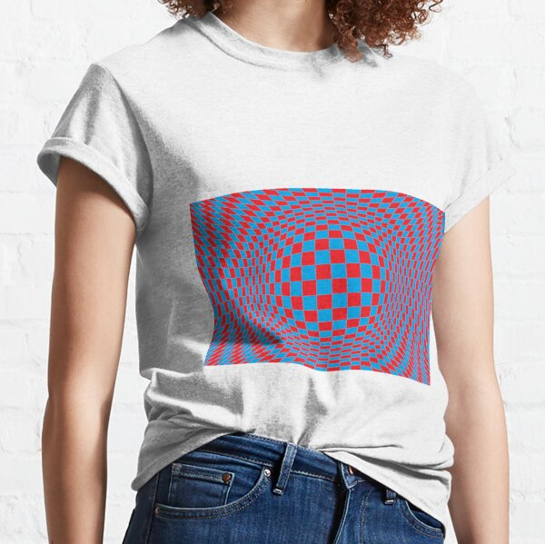 Chess, #Optical #Checker #Illusion #Pattern, design, chess, abstract, grid, square, checkerboard, illusion Classic T-Shirt