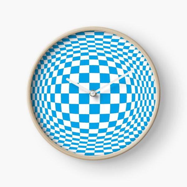 #Optical #Checker #Illusion #Pattern, design, chess, abstract, grid, square, checkerboard, illusion Clock