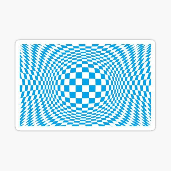 #Optical #Checker #Illusion #Pattern, design, chess, abstract, grid, square, checkerboard, illusion Sticker