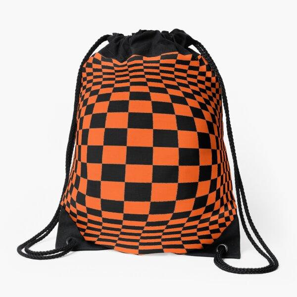 #Optical #Checker #Illusion #Pattern, design, chess, abstract, grid, square, checkerboard, illusion Drawstring Bag