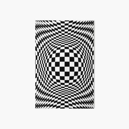 #Optical #Checker #Illusion #Pattern, design, chess, abstract, grid, square, checkerboard, illusion Art Board Print