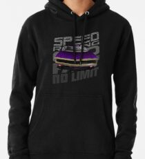 Speed 1970 PURPLE Dodge Charger R/T on black background Hoodie