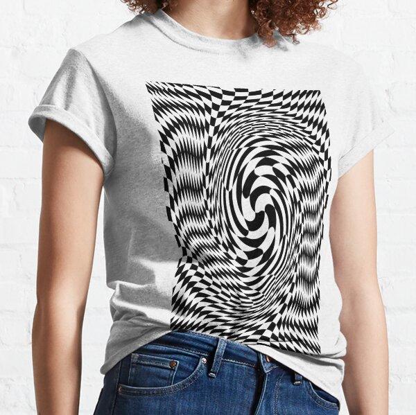 #Optical #Checker #Illusion #Pattern, design, chess, abstract, grid, square, checkerboard, illusion Classic T-Shirt