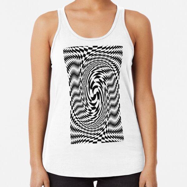 #Optical #Checker #Illusion #Pattern, design, chess, abstract, grid, square, checkerboard, illusion Racerback Tank Top