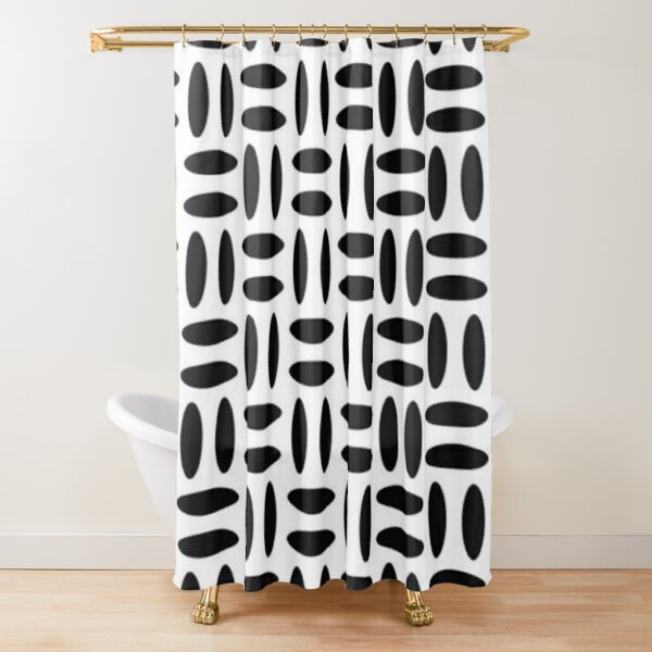 #Pattern, #design, #repeat, #textile, showy, abstract, peaky, tile Shower Curtain