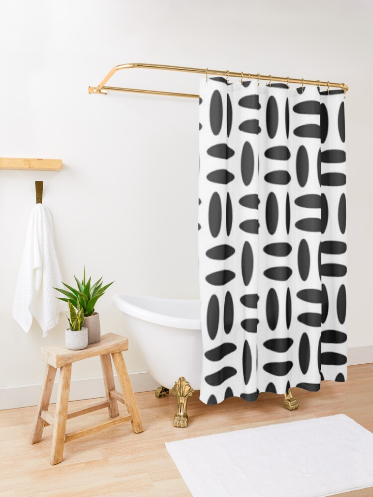Alternate view of #Pattern, #design, #repeat, #textile, showy, abstract, peaky, tile Shower Curtain