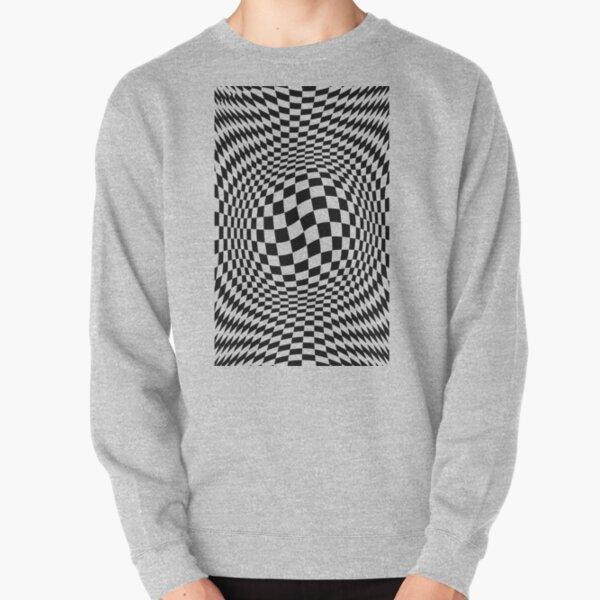 #Optical #Checker #Illusion #Pattern, design, chess, abstract, grid, square, checkerboard, illusion Pullover Sweatshirt