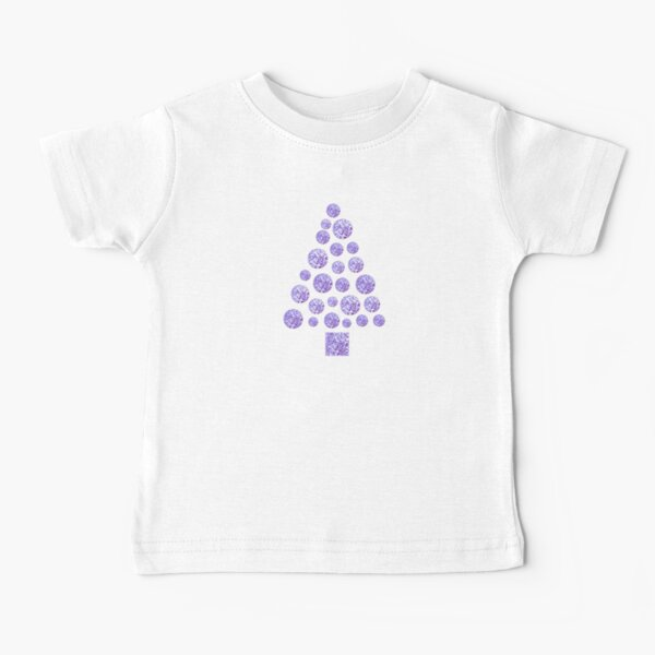 Christmas Holiday Party Tree Purple Baby T-Shirt
