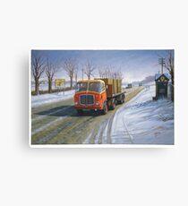 AEC Mandator in the snow. Canvas Print