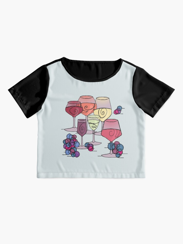 Alternate view of Wine and Grapes Chiffon Top