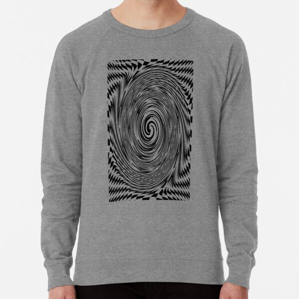 Chess, #Optical #Checker #Illusion #Pattern, design, chess, abstract, grid, square, checkerboard, illusion Lightweight Sweatshirt
