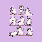 Siamese Cat Yoga by Huebucket