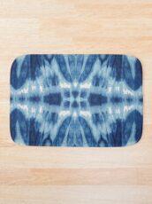 Tie-Dye Blues Twos Bath Mat