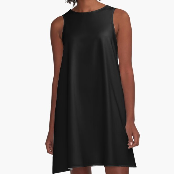 color black A-Line Dress