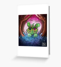 Curious Green Greeting Card