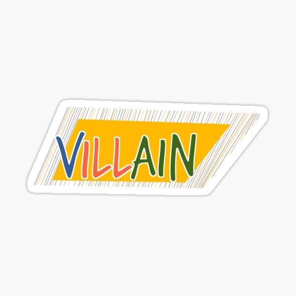 Bösewicht-Sommer-Hauptspitzenkiste Sticker
