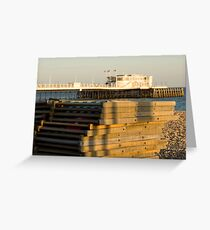 Sunset pier Greeting Card