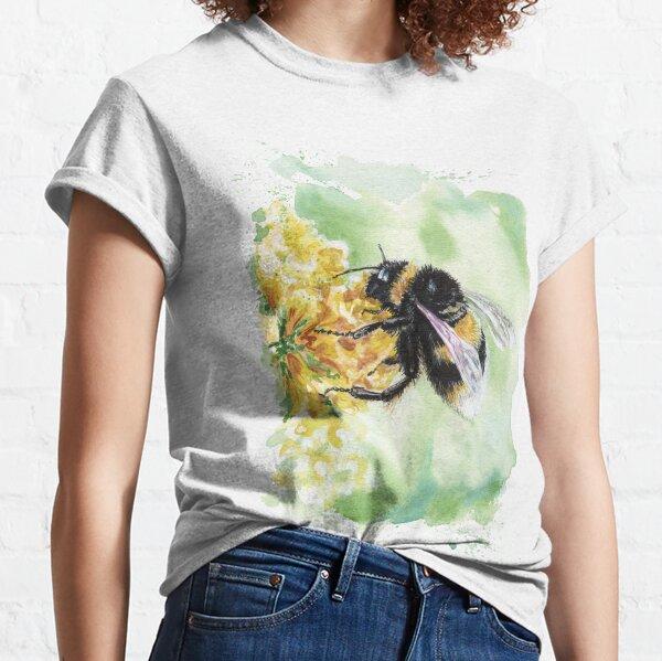 Bumblebee on Yellow Classic T-Shirt