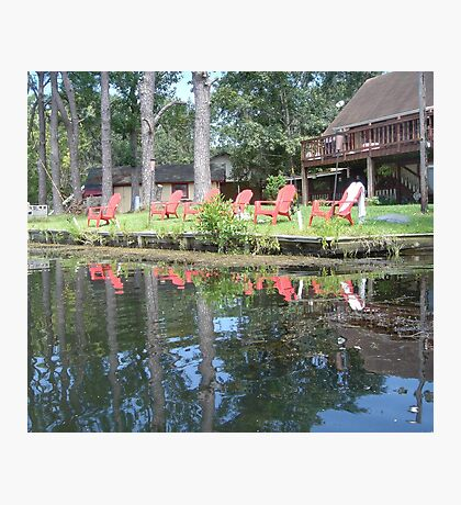 The Red Chairs Photographic Print